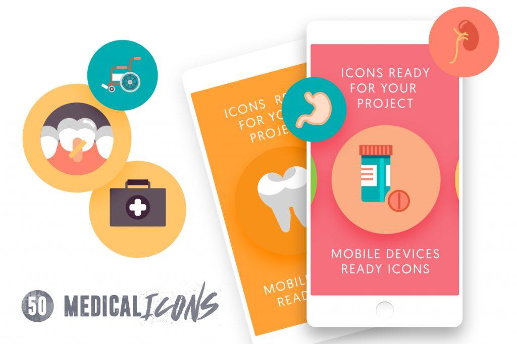 web ready 50 Medical Icons