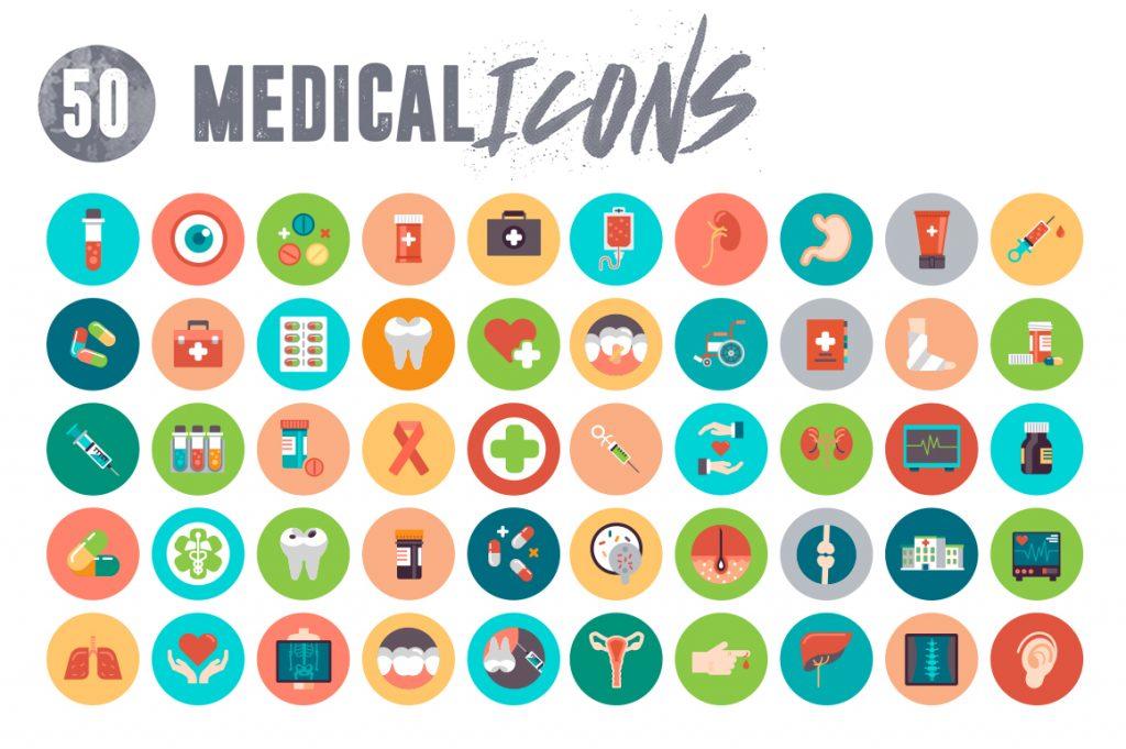 Modern Medical Icons