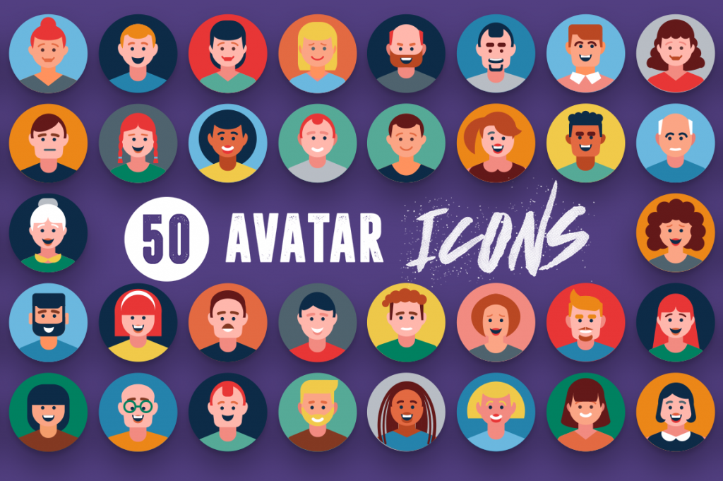 Compatible 50 Avatar Icons pack