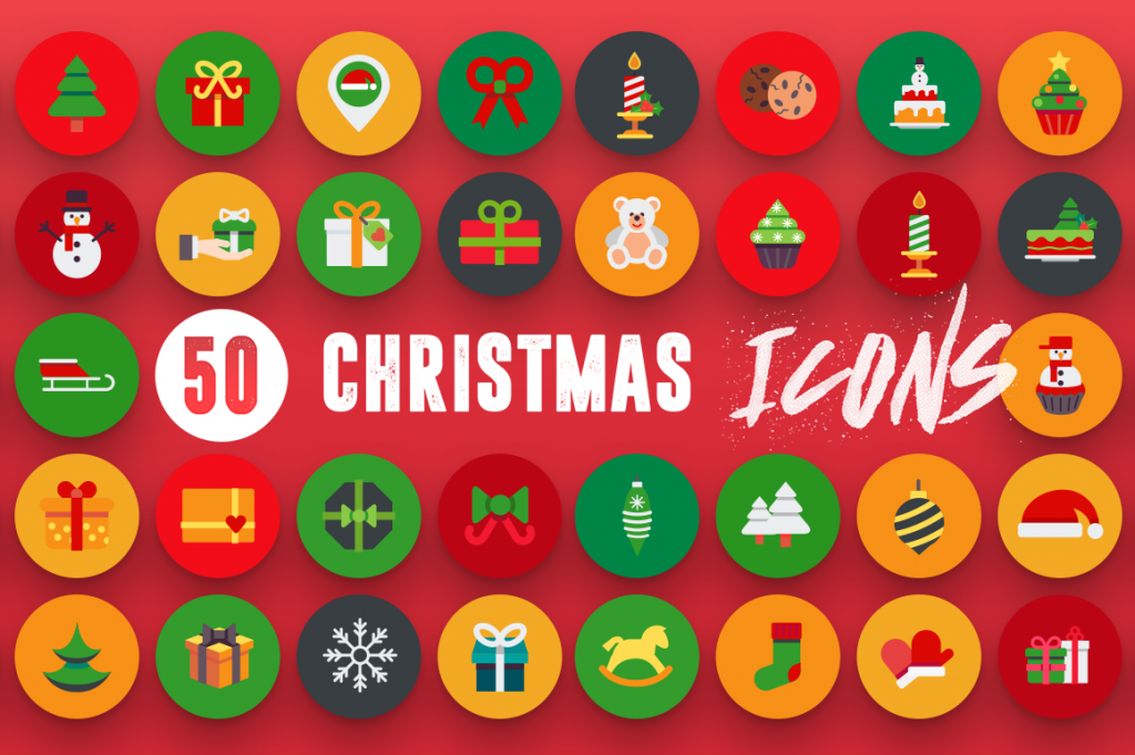 Full vector 50 Christmas Icons