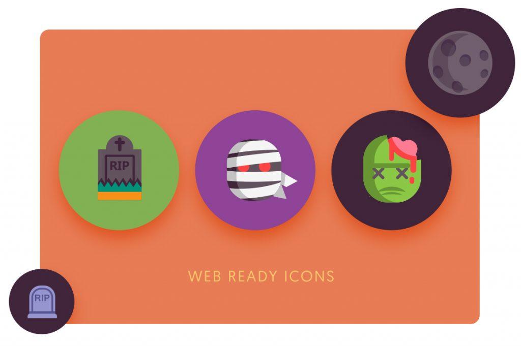 web ready 50 Halloween Icons