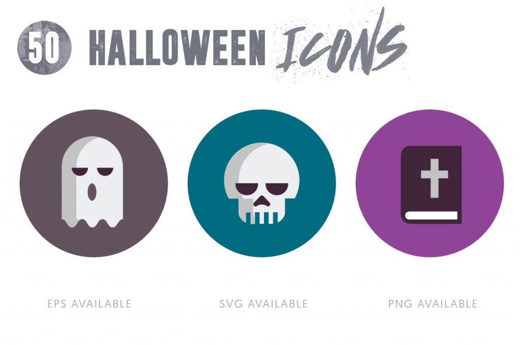 Mobile Ready 50 Halloween Icons