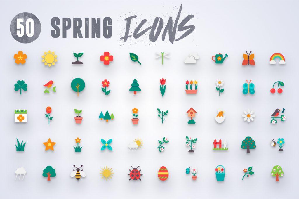 50-spring-icons-set-1