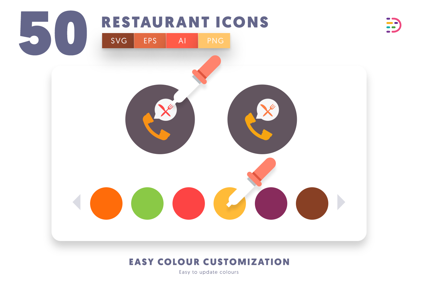 Design ready 50 Restaurant Icons