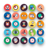 50 Time Flat Icons