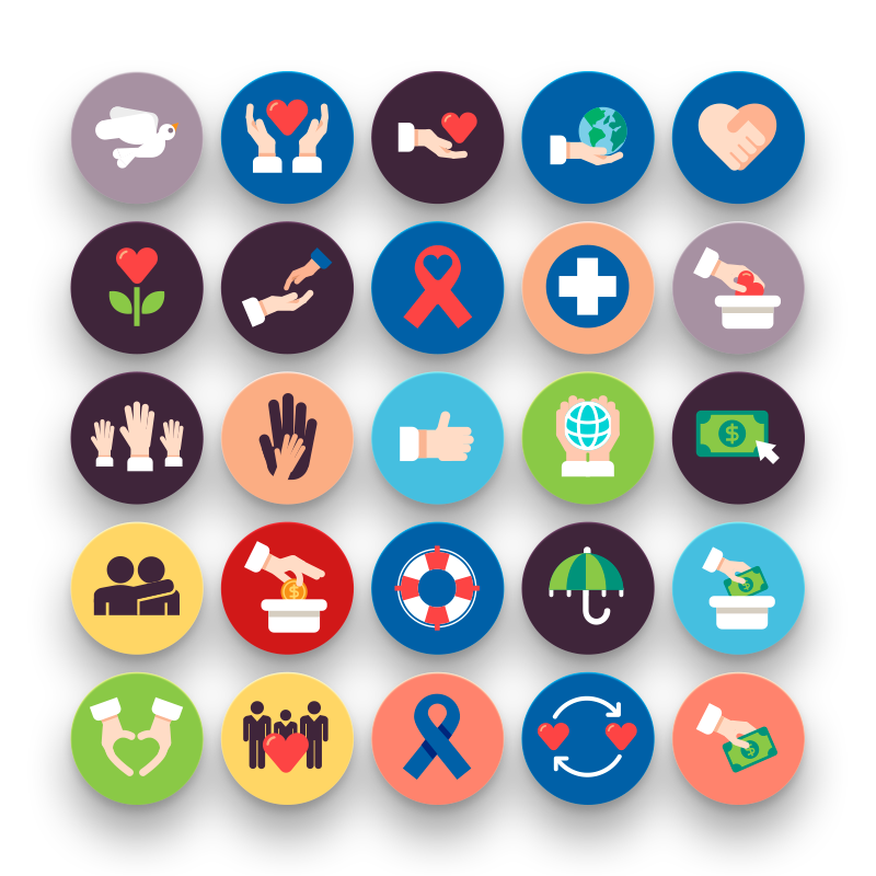50 Charity Icons