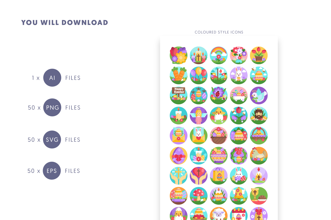 50 Easter Icons