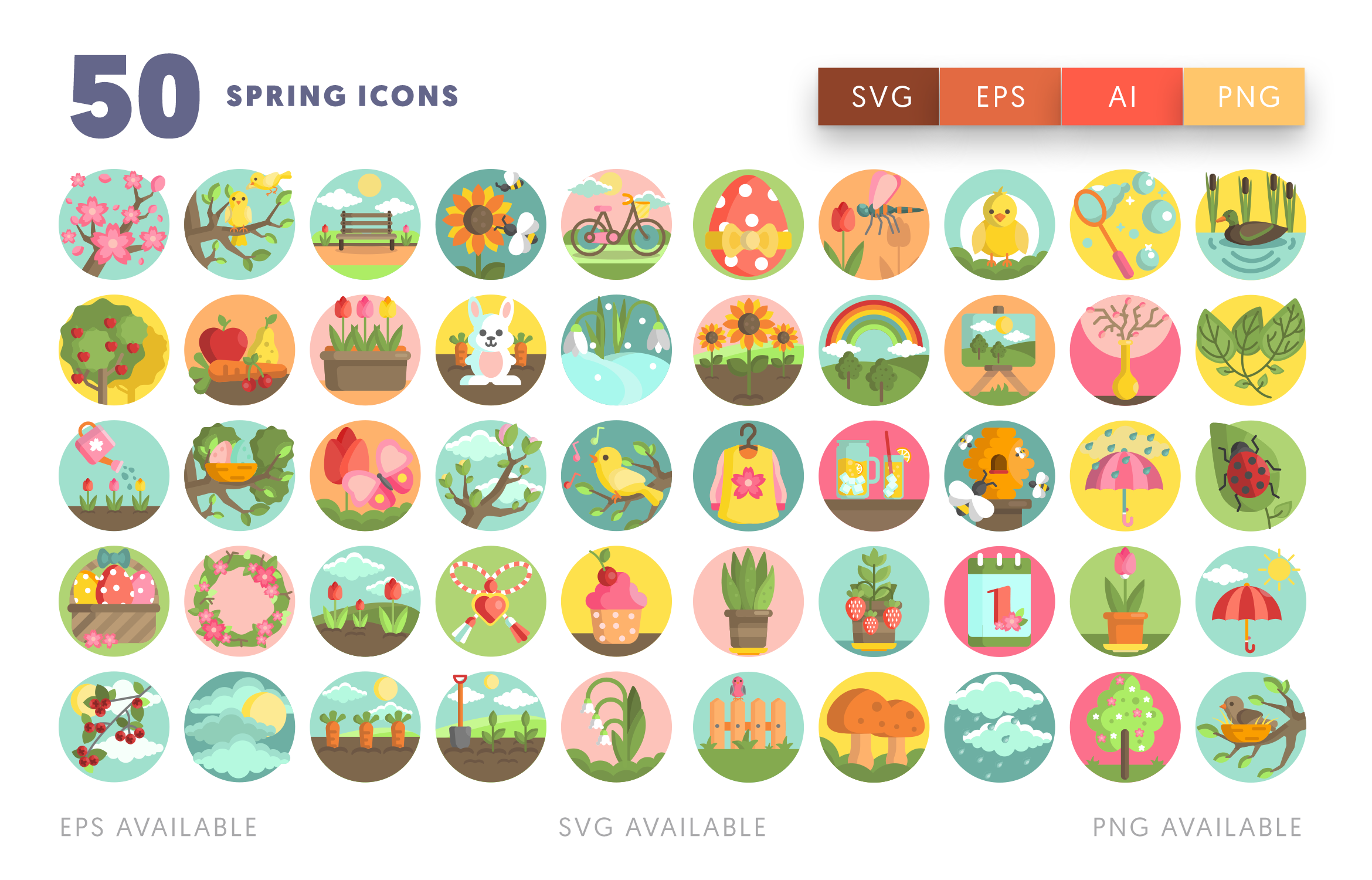 50 Spring Icons