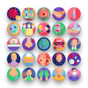 50 Coronavirus Transmission Icons