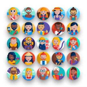 50 Travel People Icons