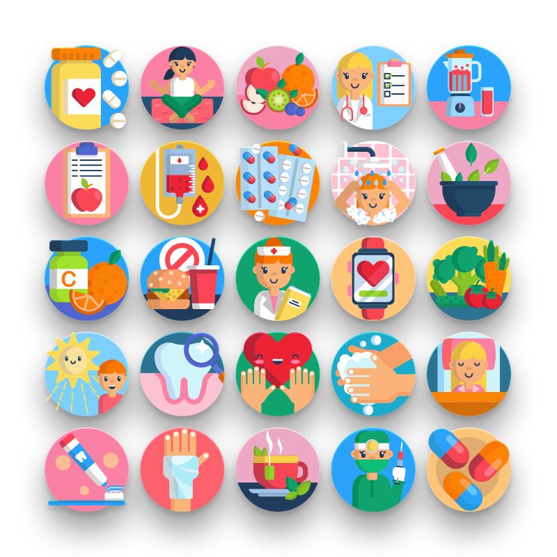 50 Health Pharmacy Icons
