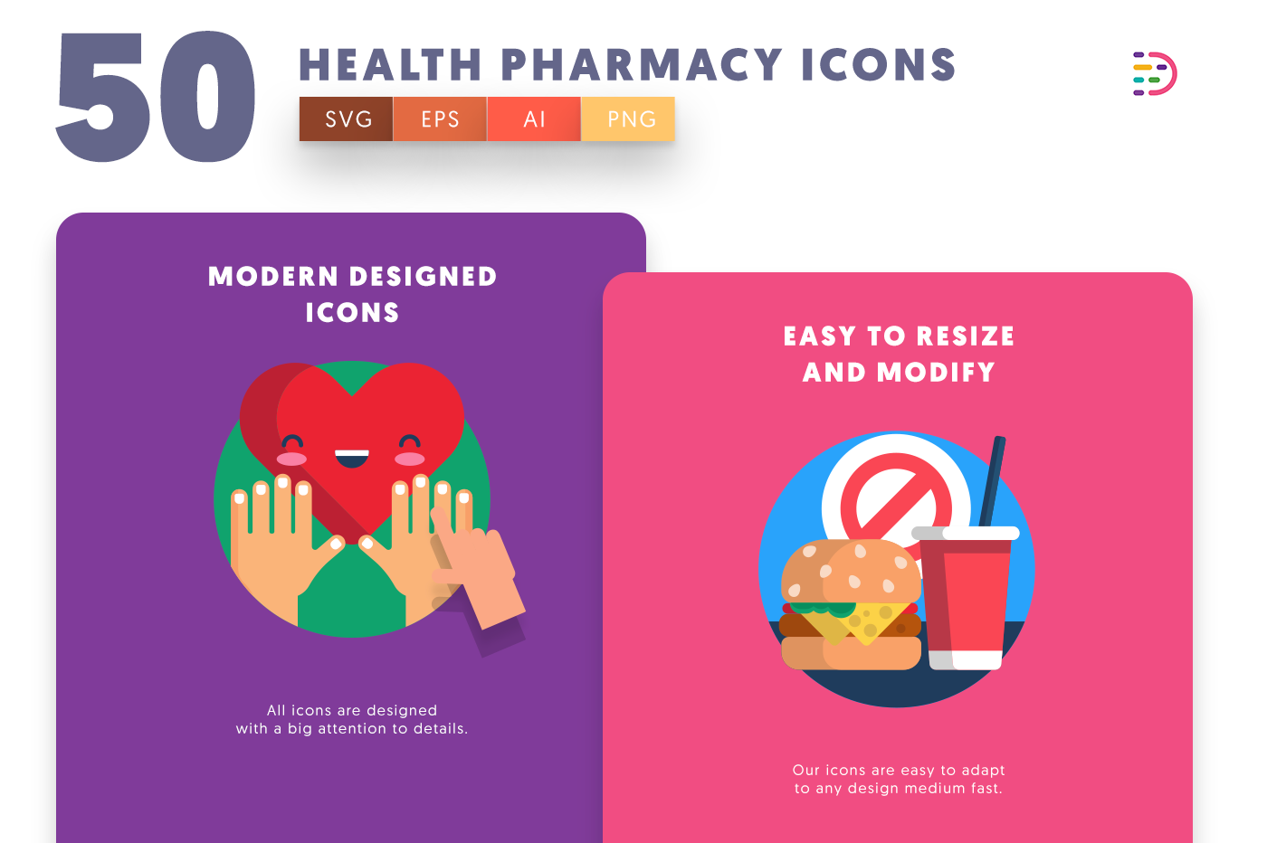 Drag and drop vector 50 Health Pharmacy Icons