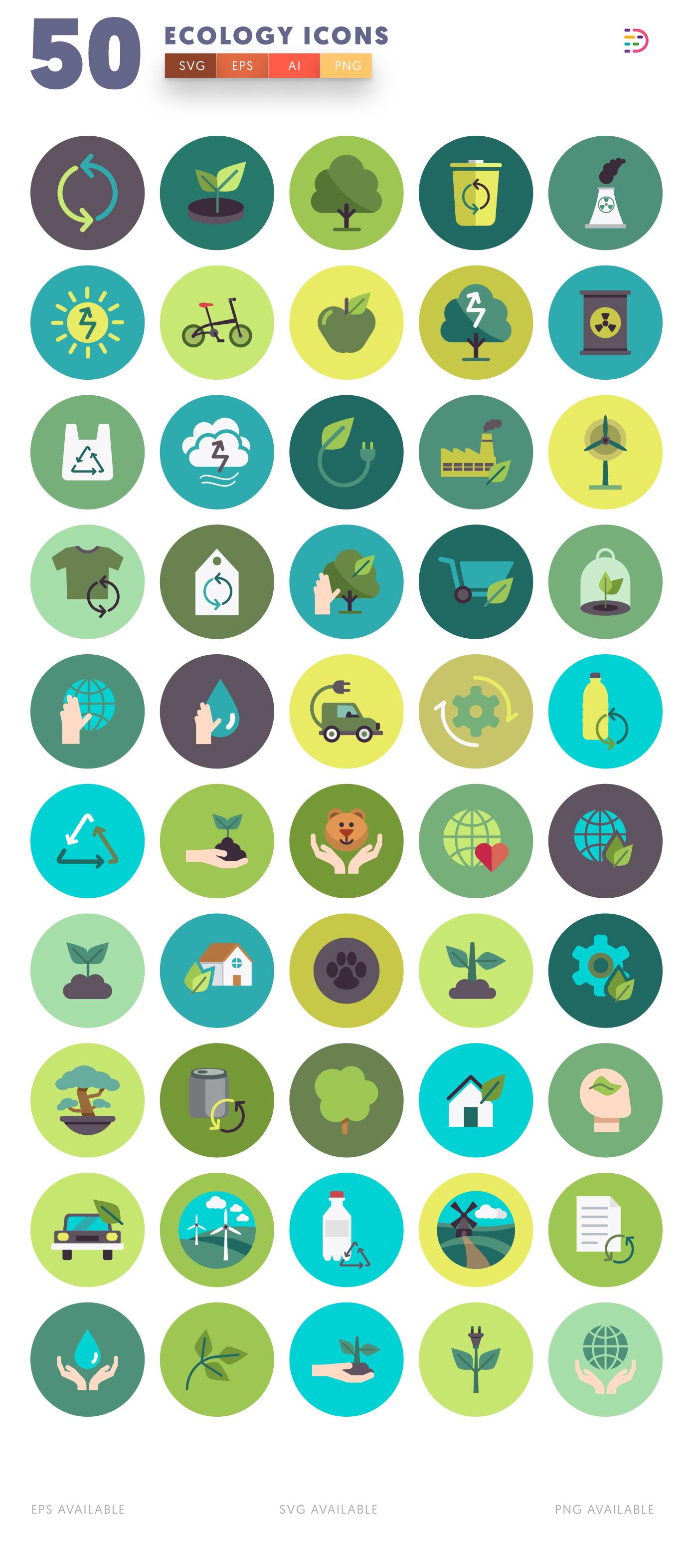 Design ready 50 Ecology Icons
