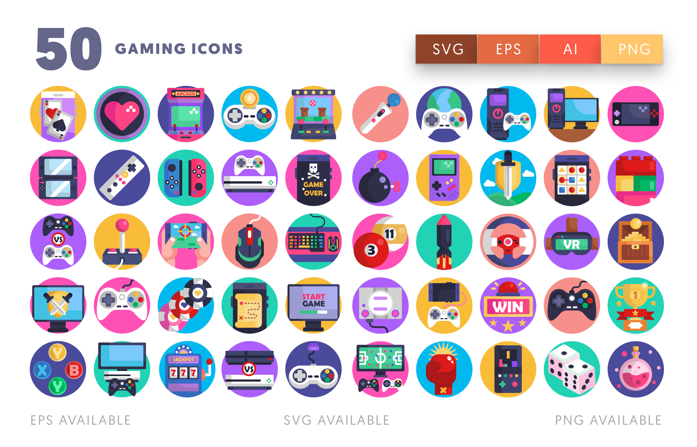 50 Gaming Icons