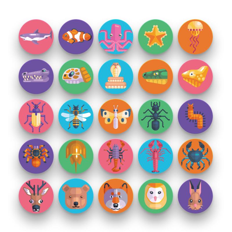 50 Animal Avatar Icons
