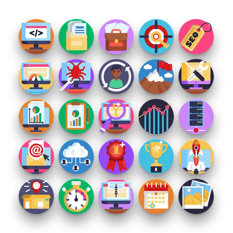 50 Seo & Marketing Icons