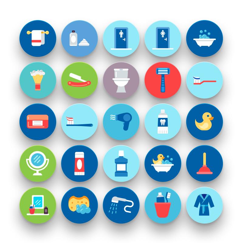 50 Bathroom Icons