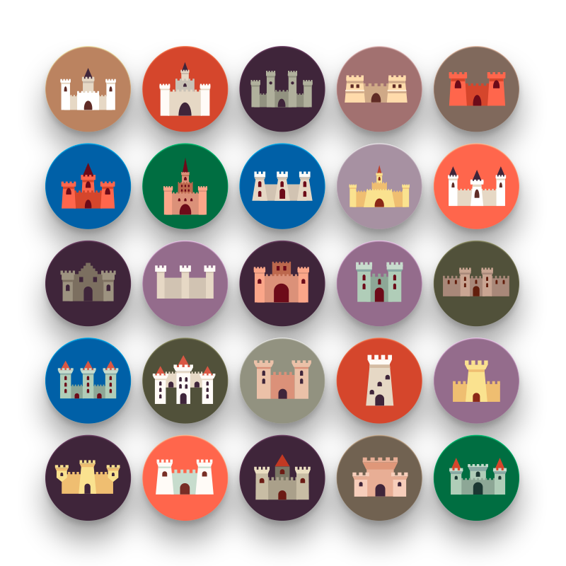 50 Castle Icons