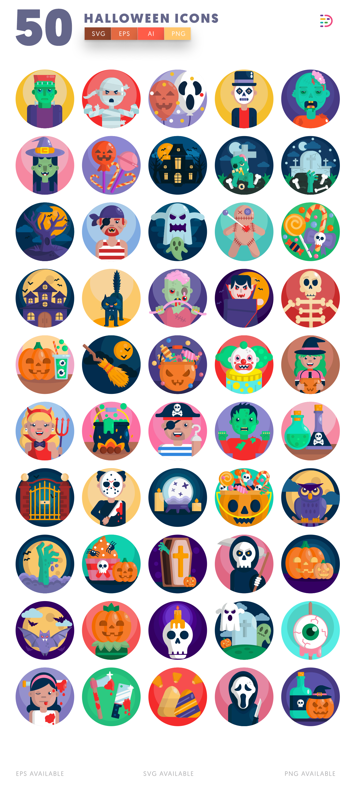 50 Halloween Icons list