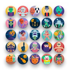 50 Halloween Icons
