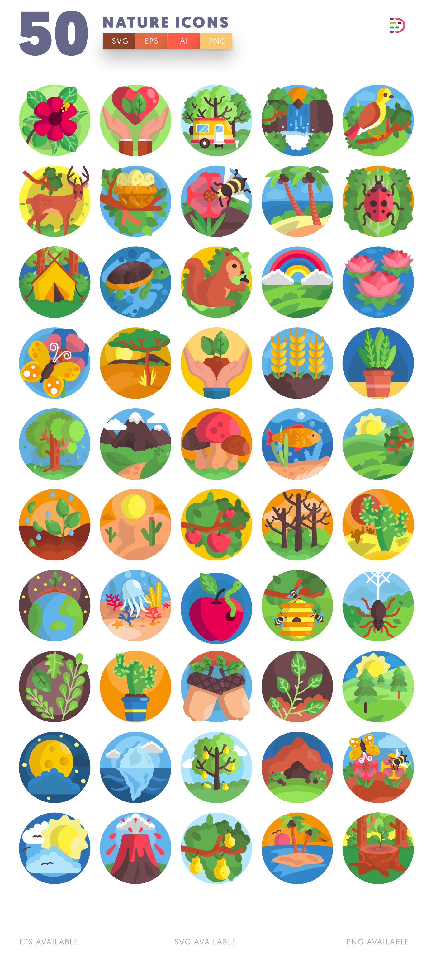 50 Nature Icons list