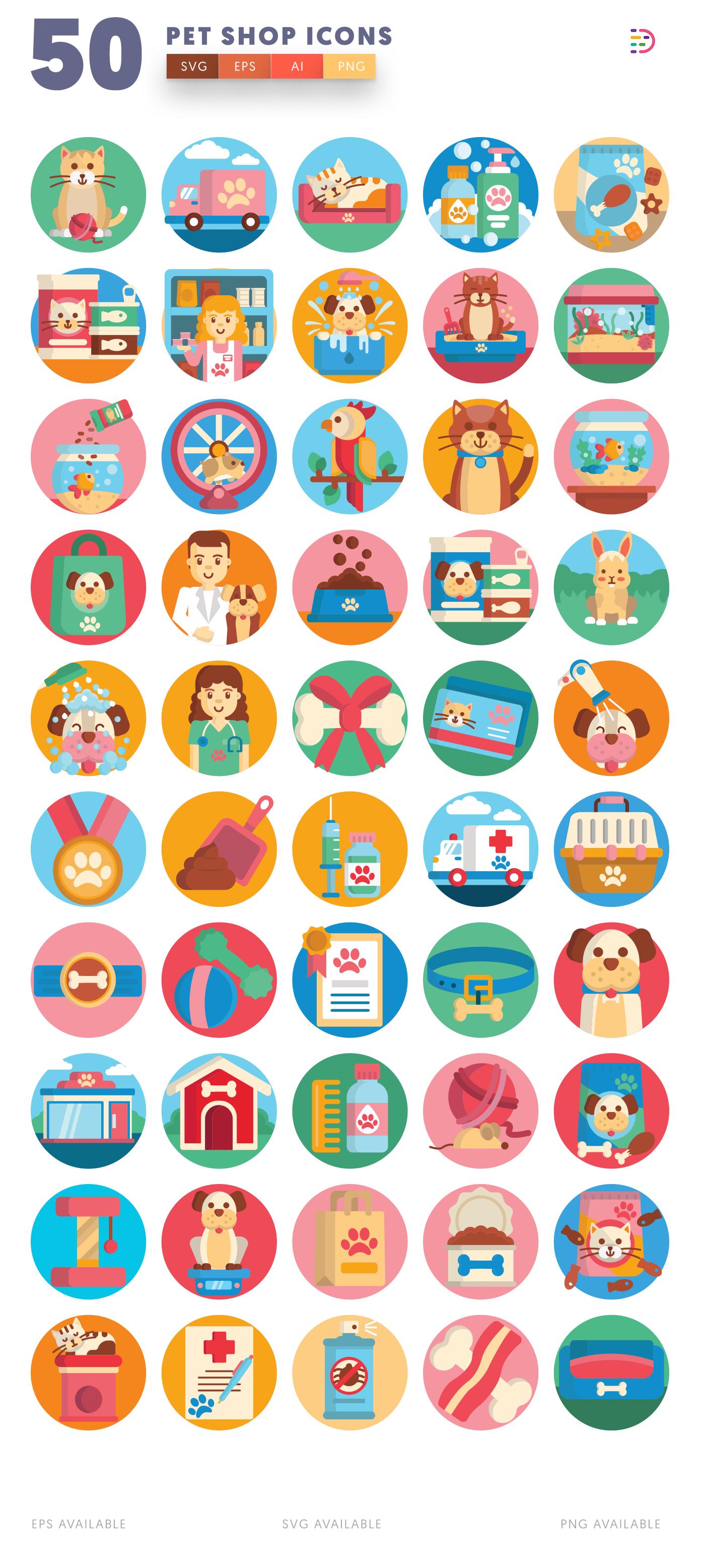 50 Petshop Icons list