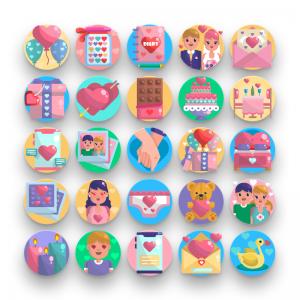 50 Valentines Icons