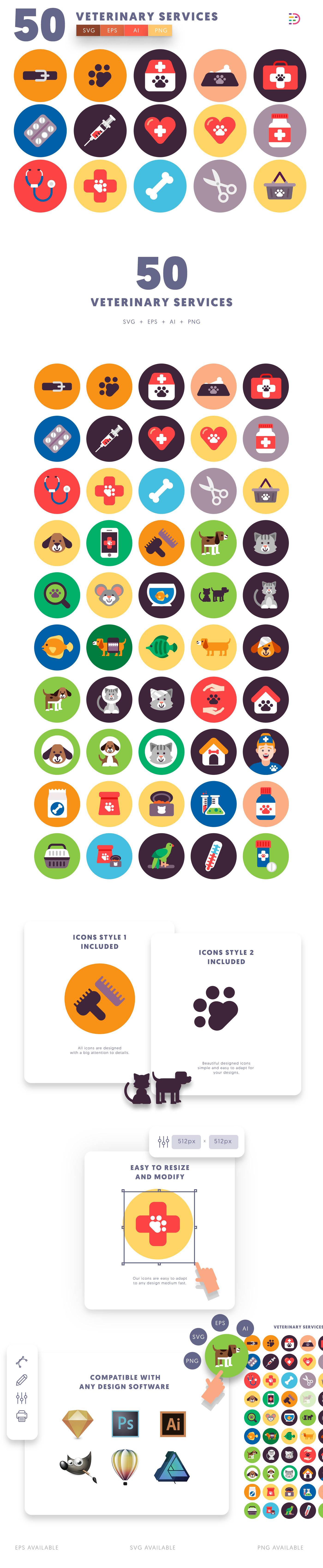 50 Veterinary Icons