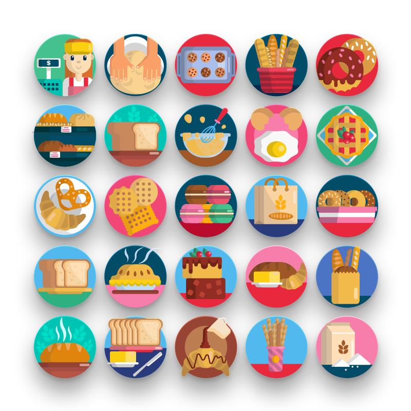 50 Bakery Icons