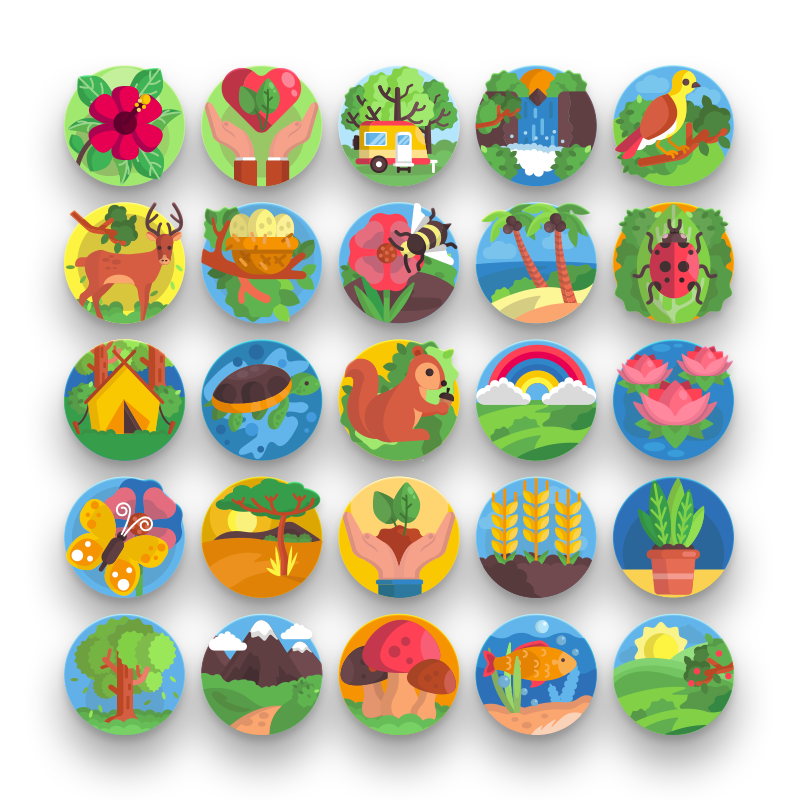 50 Nature Icons