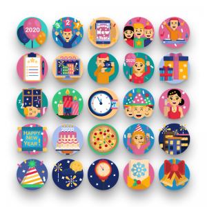 50 New Year Icons