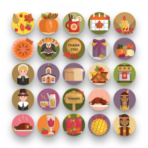 50 Thanksgiving Icons
