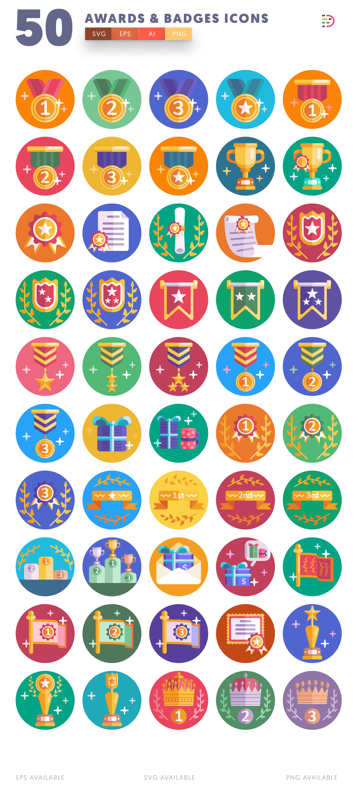 Full vector Awards & Badges Icons