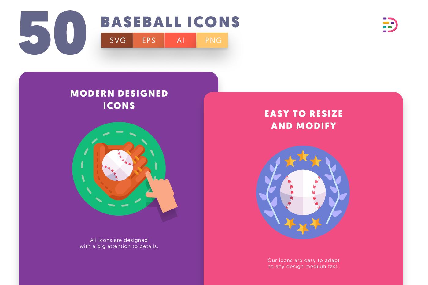 Baseball icons png/svg/eps