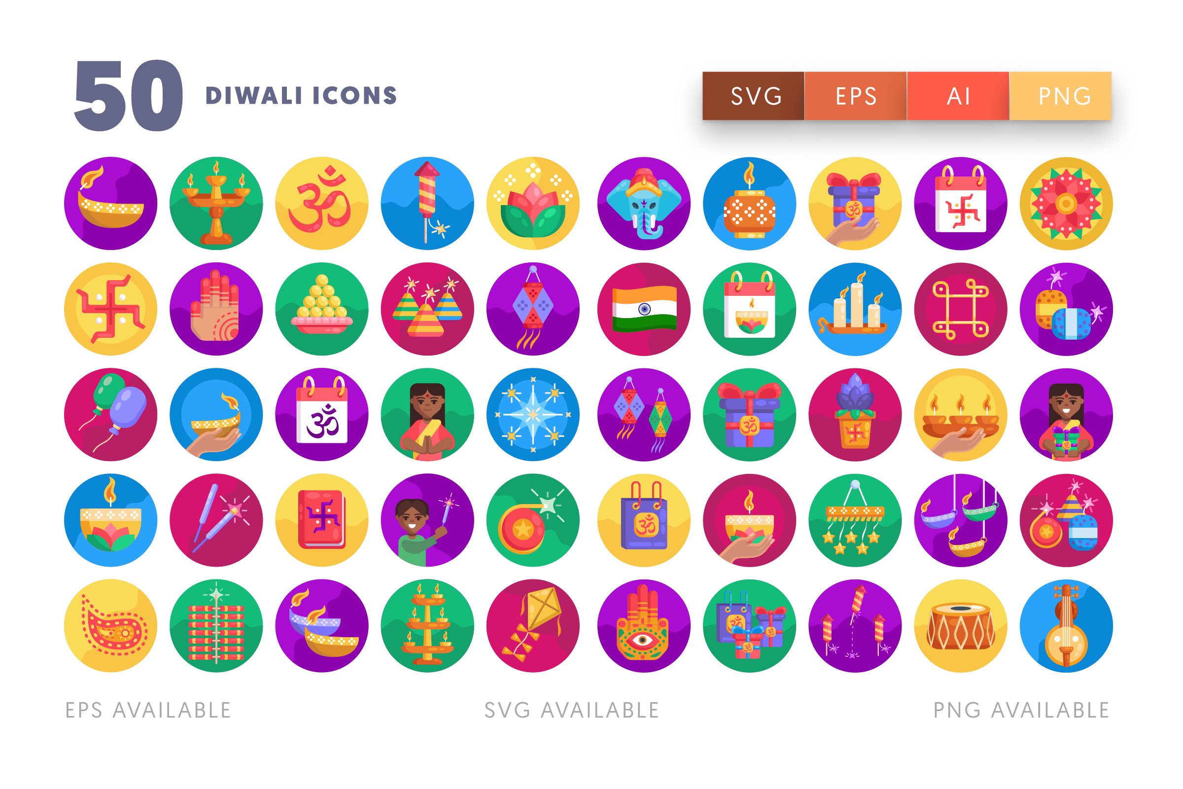 Diwali icons png/svg/eps