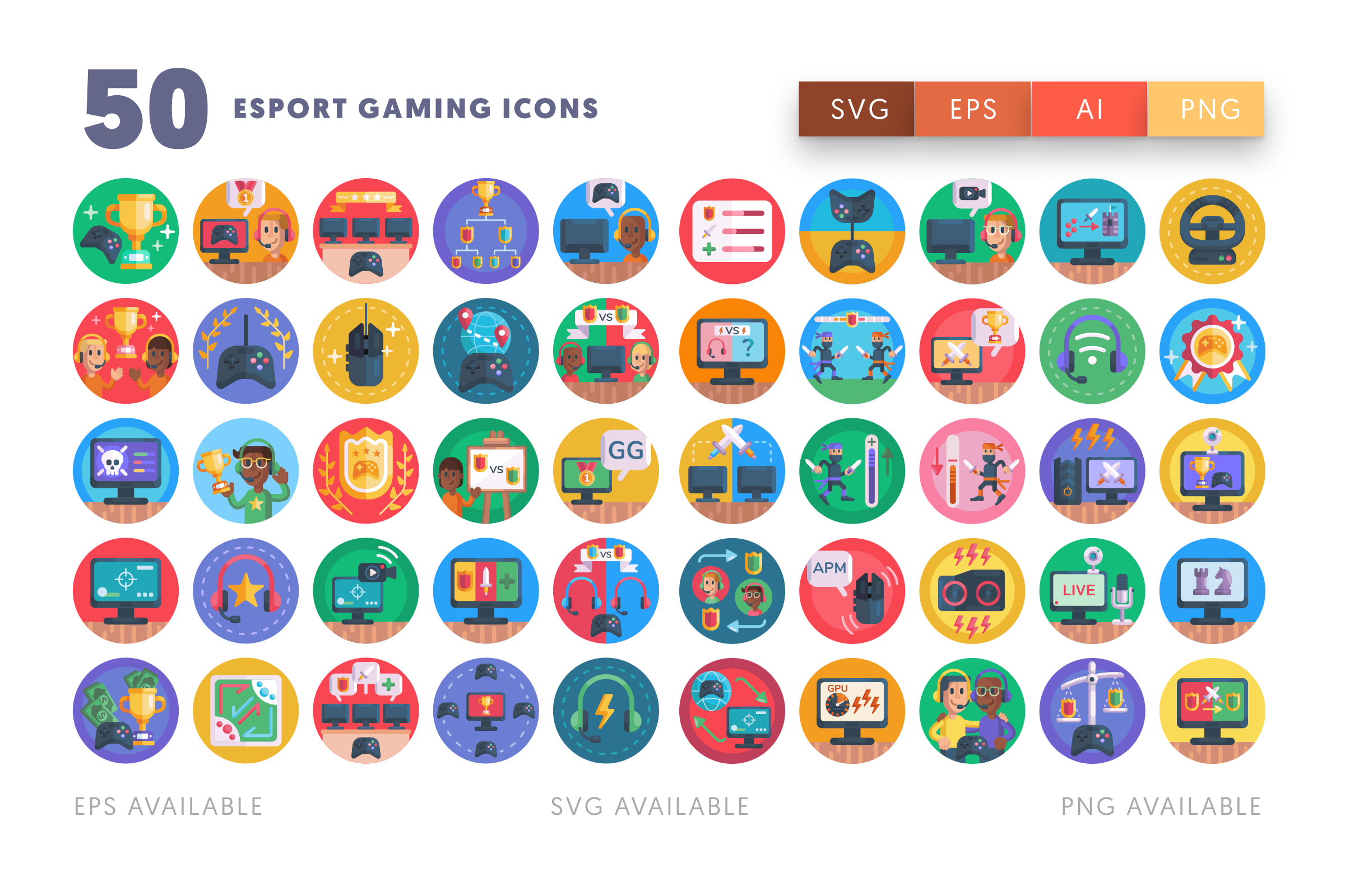 Esport Gaming icons png/svg/eps
