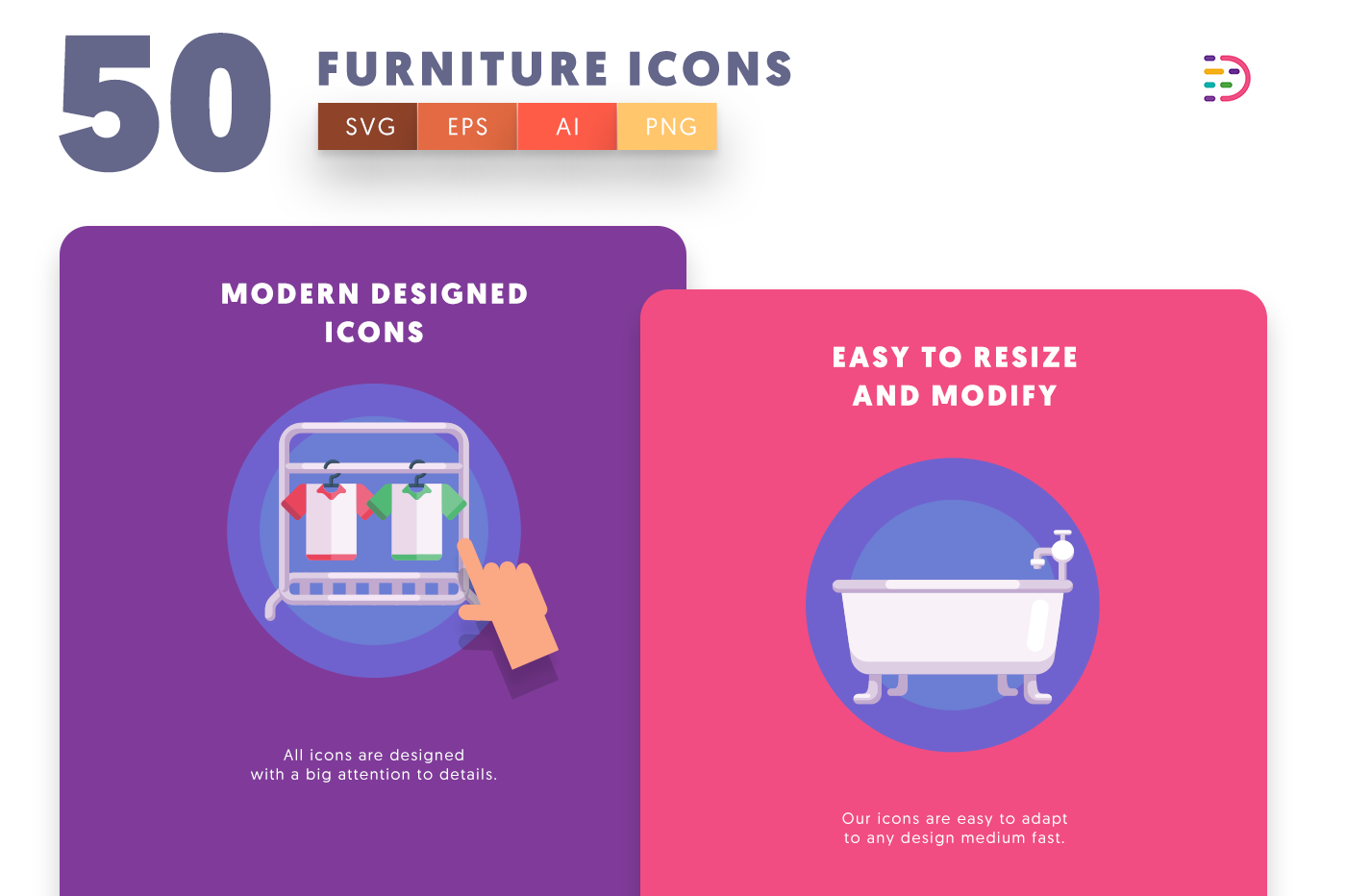 Furniture icons png/svg/eps