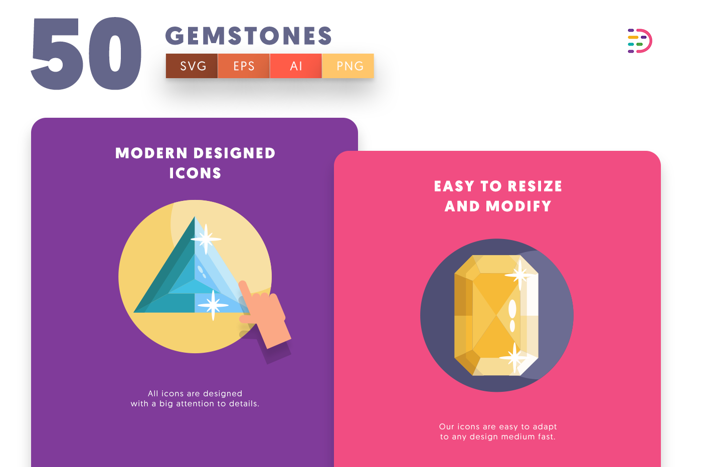 Gemstones icons png/svg/eps