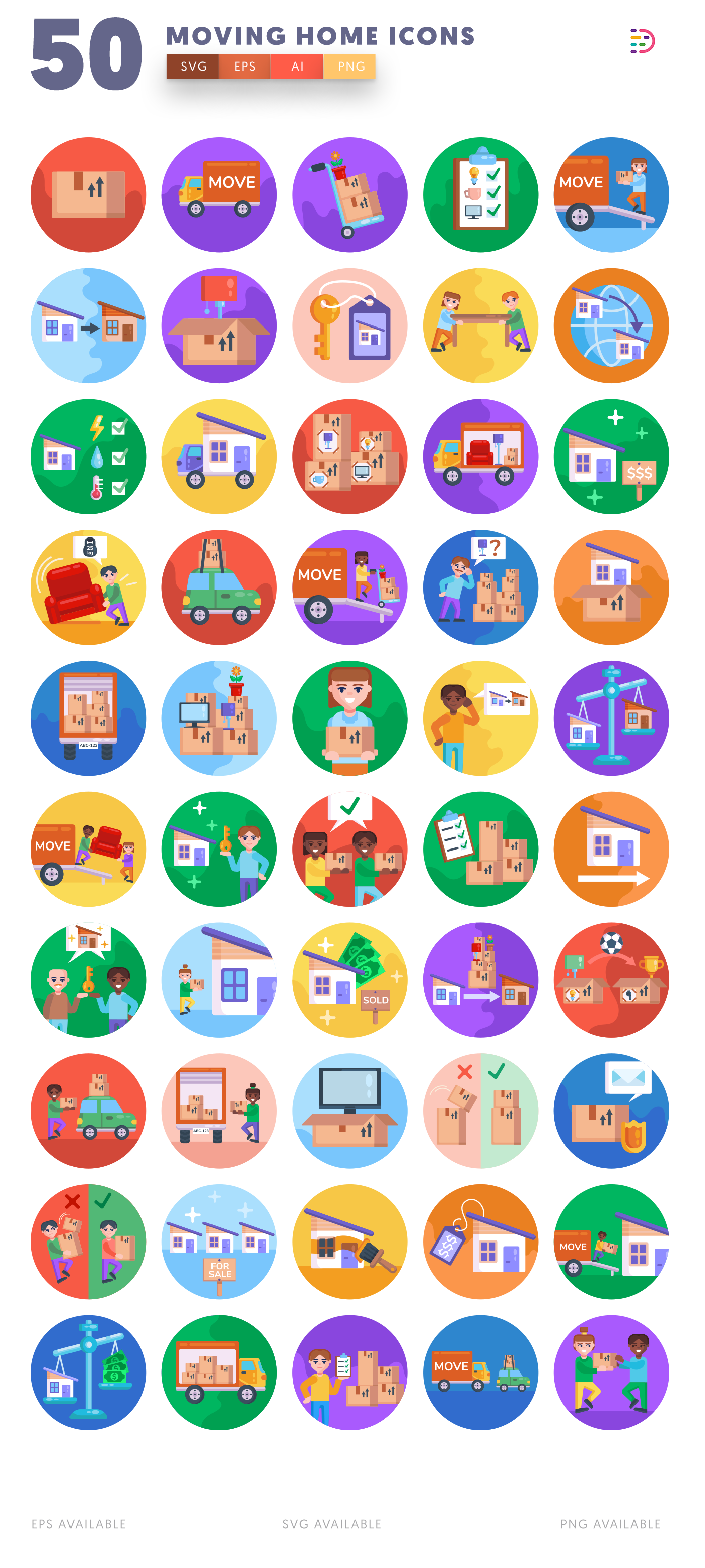 Moving Home icon pack