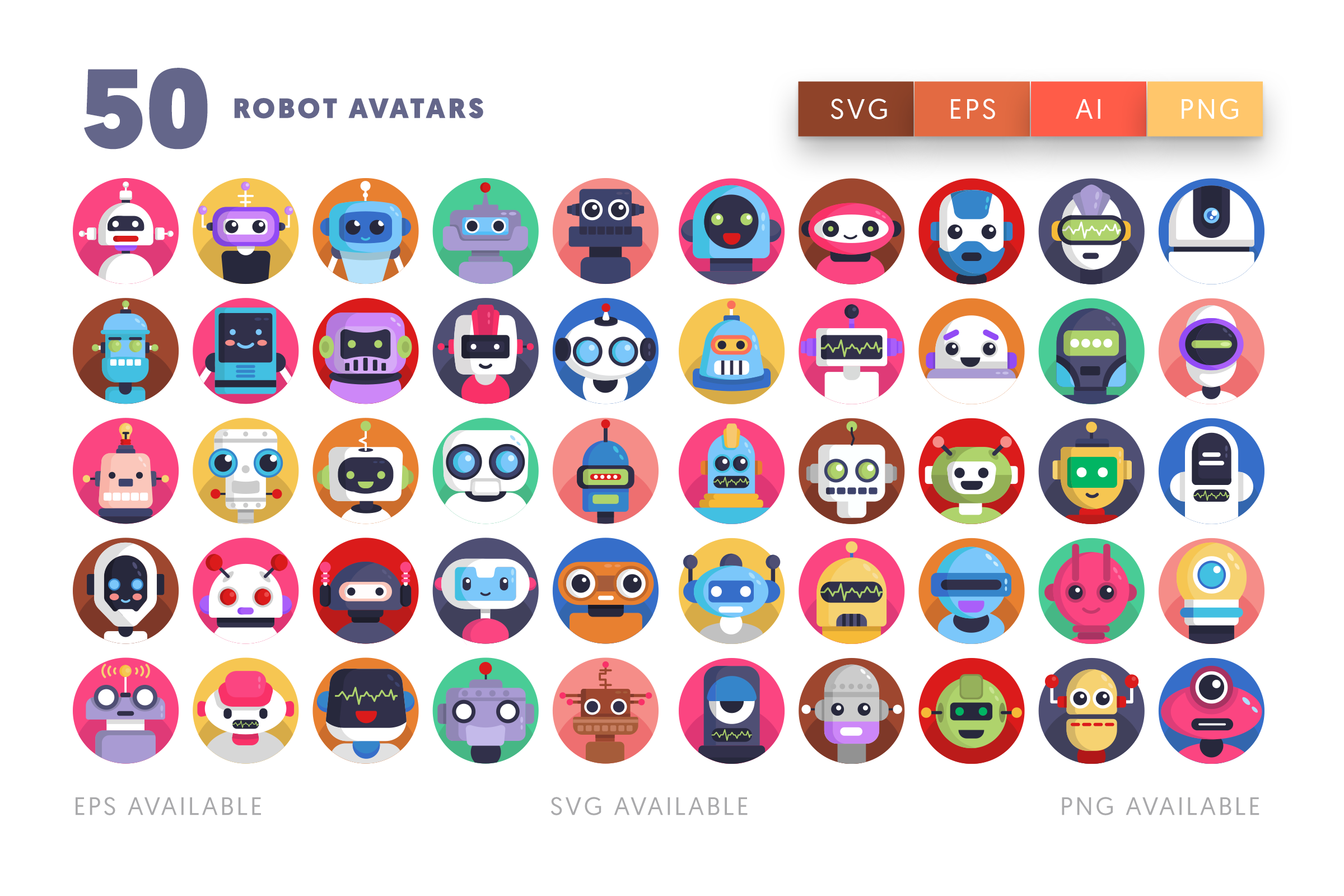 Robot Avatar icons png/svg/eps