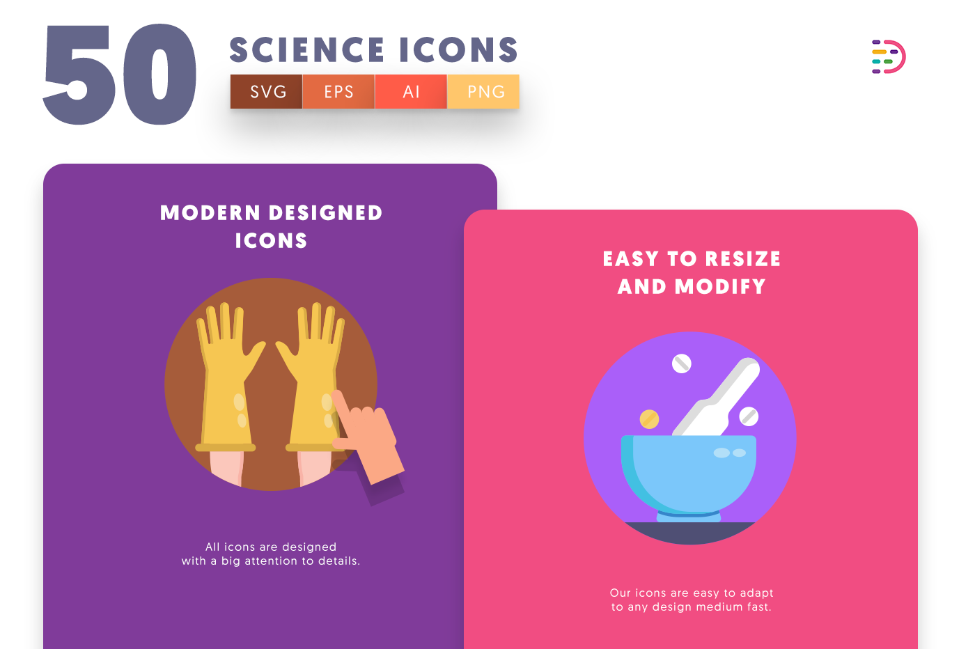 Science icons png/svg/eps