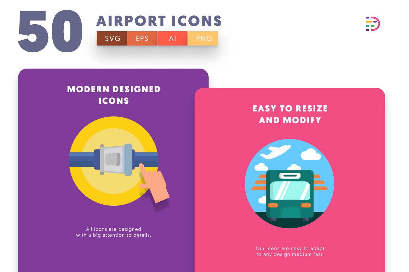 Airport icons png/svg/eps