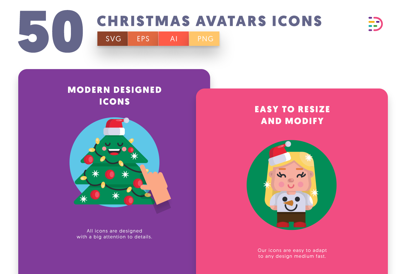 Christmas Avatars icons png/svg/eps