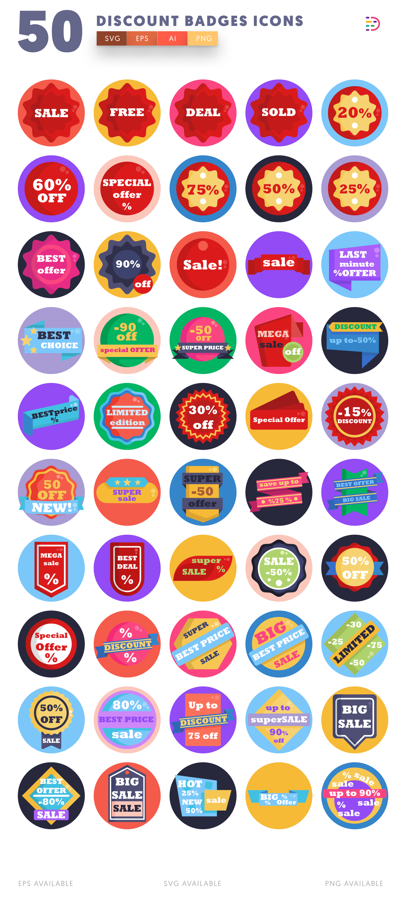 Discount Badges icon pack