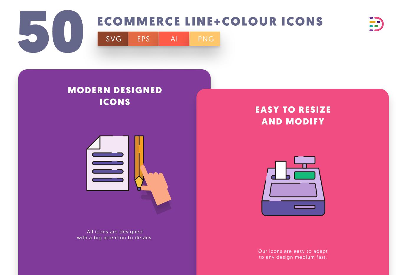 Ecommerce Line+Colour icons png/svg/eps