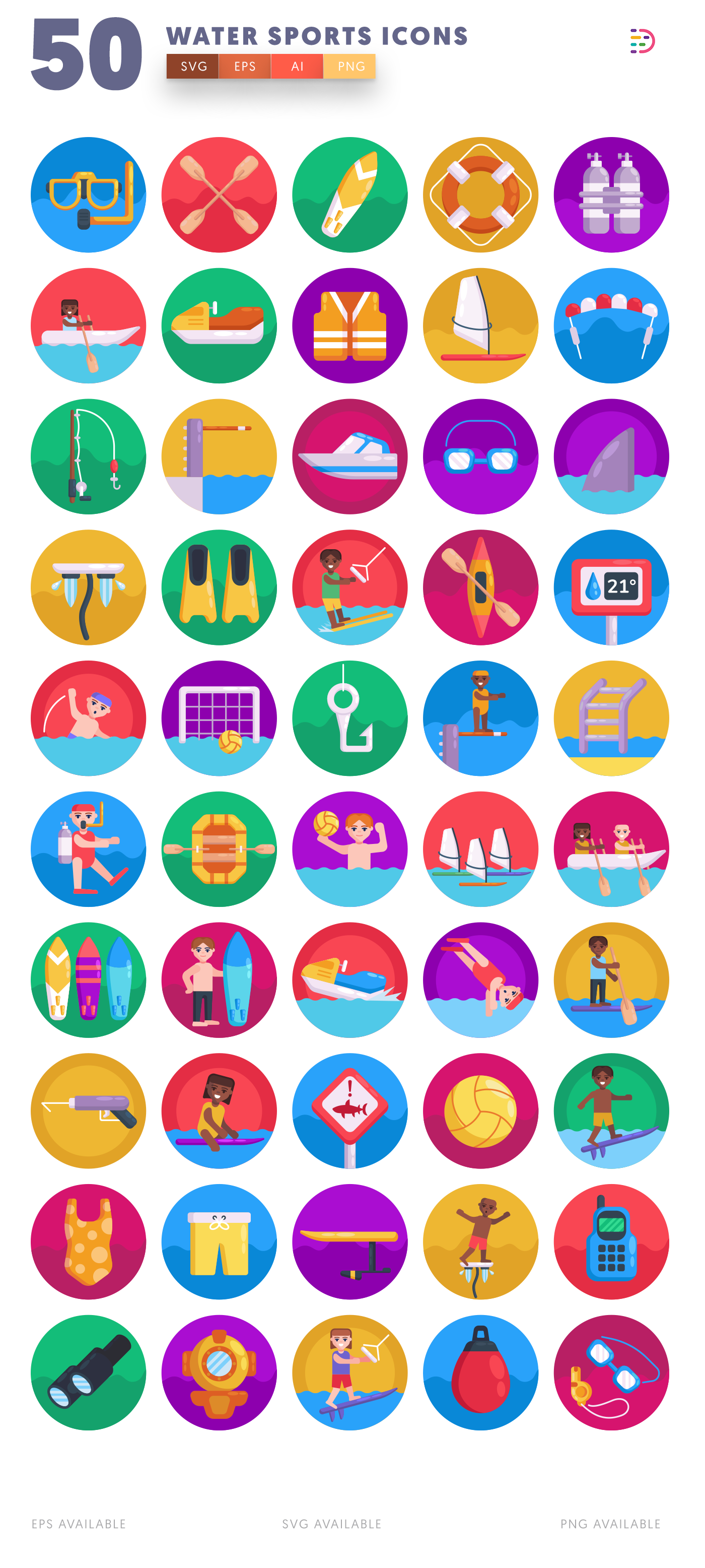Water Sports icon pack