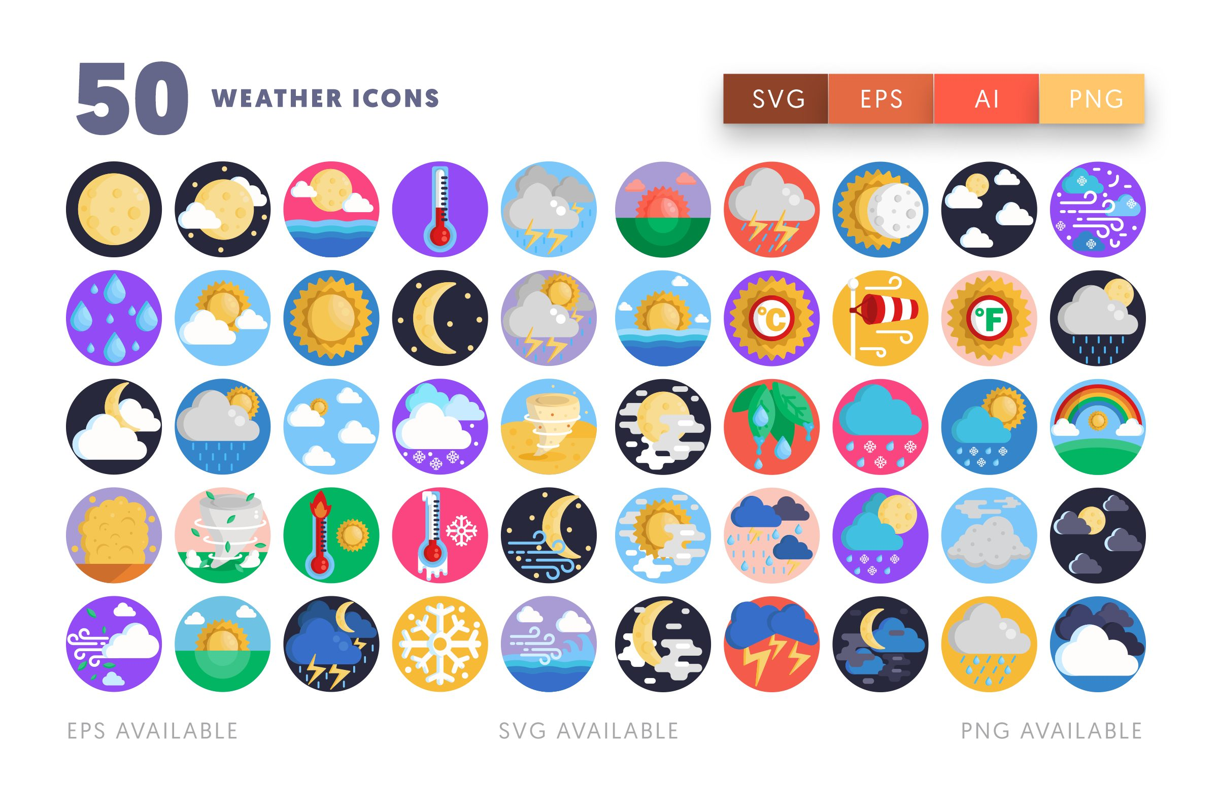 Weather icons png/svg/eps