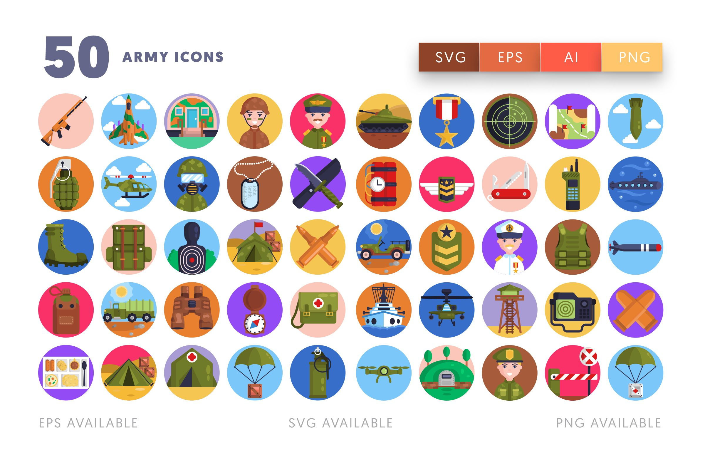 Army icons png/svg/eps