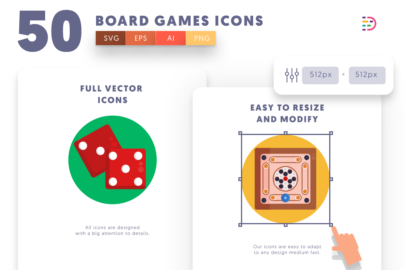 Full vector 50BoardGames Icons