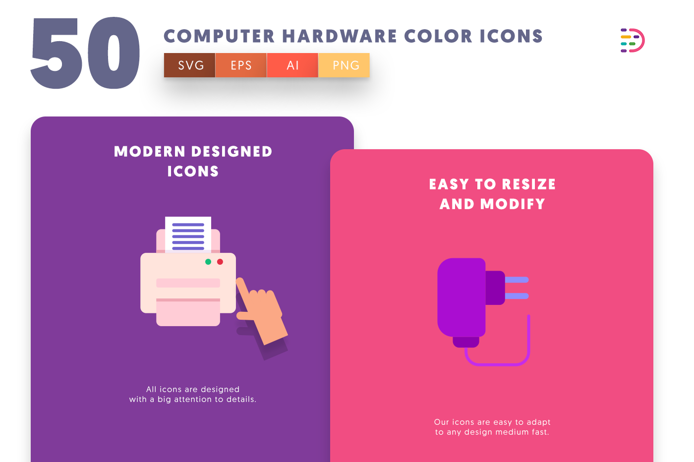 Computer Hardware Color icons png/svg/eps